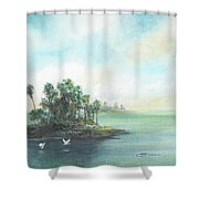 Private Island Shower Curtain