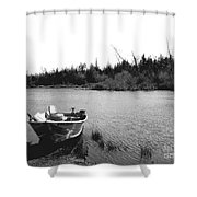 Private Lake  Shower Curtain