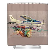 Private Plane Shower Curtain