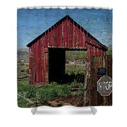 Private Property No Trespassing Shower Curtain