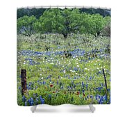 Private Property -wildflowers Of Texas. Shower Curtain