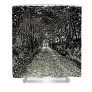 Private Road B Shower Curtain