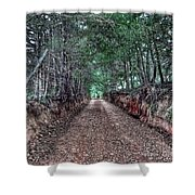 Private Road Shower Curtain