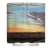 Private Sunrise.  Keep Out Shower Curtain