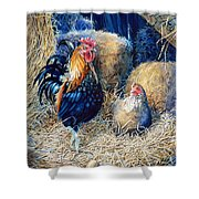 Prized Rooster Shower Curtain by Hanne Lore Koehler