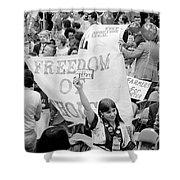 Pro-choice Rally, 1976 Shower Curtain