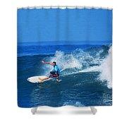 Pro Surfer Ezekiel Lau-1 Shower Curtain