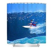 Pro Surfer Ezekiel Lau-3 Shower Curtain