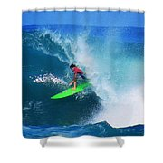 Pro Surfer Keanu Asing-2 Shower Curtain