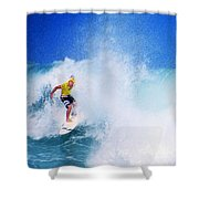 Pro Surfer-nathan Hedge-5 Shower Curtain