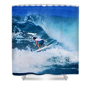 Pro Surfer Olamana Eleogram-1 Shower Curtain