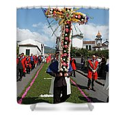 Procession In Furnas - Azores Shower Curtain