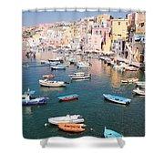 Procida Island, Italy Shower Curtain