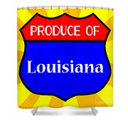 Produce Of Louisiana Shield Shower Curtain
