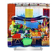 Produce Seller Shower Curtain