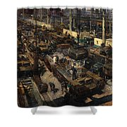 Production Of Tanks Shower Curtain
