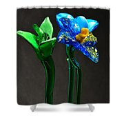 Profile Of Glass Flowers Shower Curtain