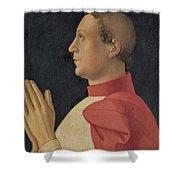 Profile Portrait Of Cardinal Philippe De Levis Shower Curtain