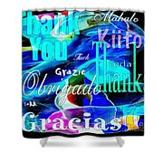 Profound Thought Celebrate Life Pink Shower Curtain