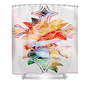 Profound Thought Cross And Roses Shower Curtain