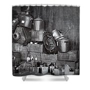 Prohibition Confiscated Stills  1920's Shower Curtain