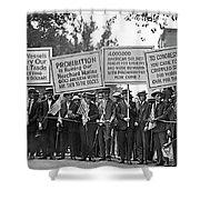 Prohibition Protestors Shower Curtain