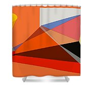Projection Shower Curtain