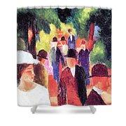 Promenade II By August Macke Shower Curtain