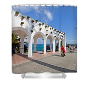Promenade In Nerja Shower Curtain