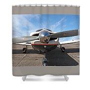 Piper Pa-32-300 Cherokee Six Prop  Shower Curtain
