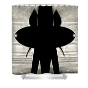 Propeller Abstract Shower Curtain