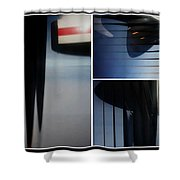 Propeller Collage  Shower Curtain