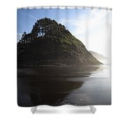 Proposal Rogue Wave Rock - Oregon Coast Shower Curtain