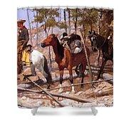 Prospecting For Cattle Range 1889 Shower Curtain
