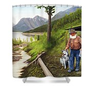 Prospector And Best Friend Shower Curtain