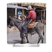 Prospector Re-enactor With Fan Allen Street Tombstone Arizona 200 Shower Curtain