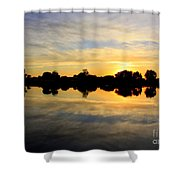 Prosser Sunset - Blue And Gold Shower Curtain