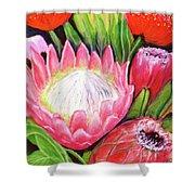 Protea Flowers #240 Shower Curtain