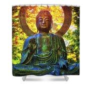 Protection Buddha #2 In Japanese Tea Garden At Golden Gate Park - San Francisco Shower Curtain