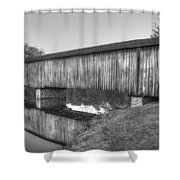 Protection That Works Historic Watson Mill Covered Bridge Shower Curtain