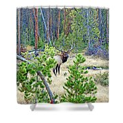 Protective Elk Shower Curtain