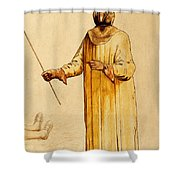 Protective Suit For Plague, 17th Century Shower Curtain