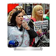 Protest Rally Shower Curtain