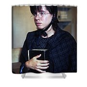 Protestant Woman Shower Curtain