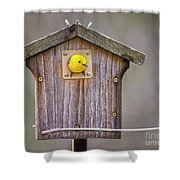 Prothonotary Warbler House Shower Curtain