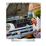 Proud Owner - Faces Of Havana Shower Curtain
