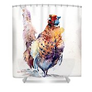 Proud Pheasant  Shower Curtain
