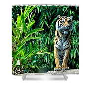 Proud Tiger Shower Curtain