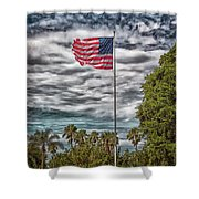 Proudly Waving Shower Curtain