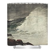 Prouts Neck Breaking Wave Shower Curtain